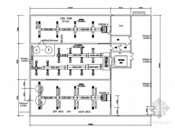 某厂房空调图纸资料下载-某厂房空调图纸