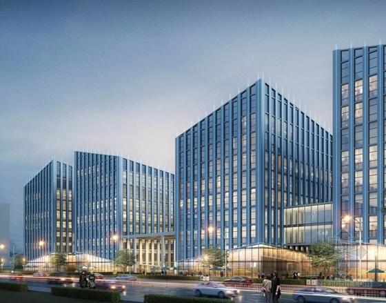 [北京]国内知名企业集团总部规划设计方案文本(含多个方案)-国内知名企业集团总部规划效果图