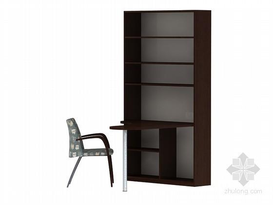 现代书房家具3D模型下载