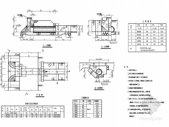 钢筋混凝土管式斗门设计图