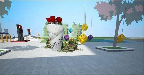 [广东]特色武术主题广场景观规划设计方案(知名置业公司)-景观效果图