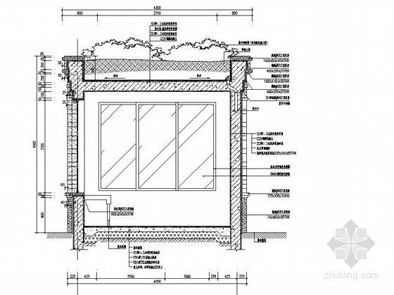 小区入口门卫室施工图