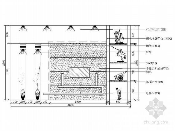 电视背景墙全集立面CAD图块下载