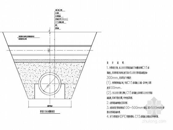 市政道路排水结构设计图(HDPE管 检查井)
