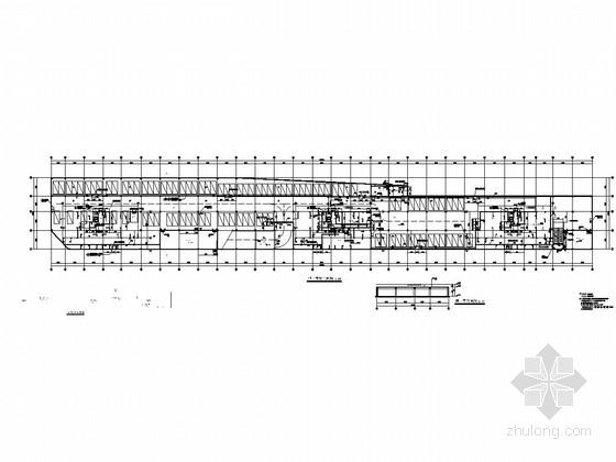容纳97辆地下一层框架结构停车库结构施工图(含建筑图)