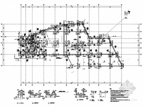 [江西]地上三层框架结构商业楼结构施工图