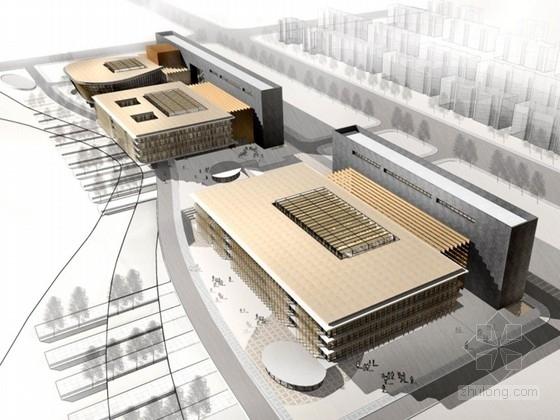 [内蒙古]某5层图书馆建筑设计方案文本