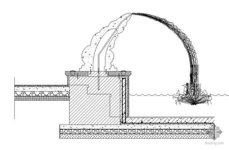 特色喷水雕塑施工图