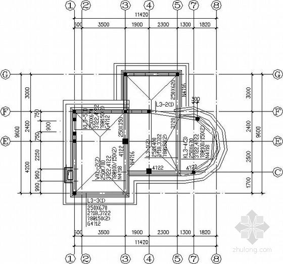 两层坡屋顶别墅结构施工图