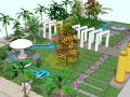凉亭廊架庭院景观设计(SU模型)