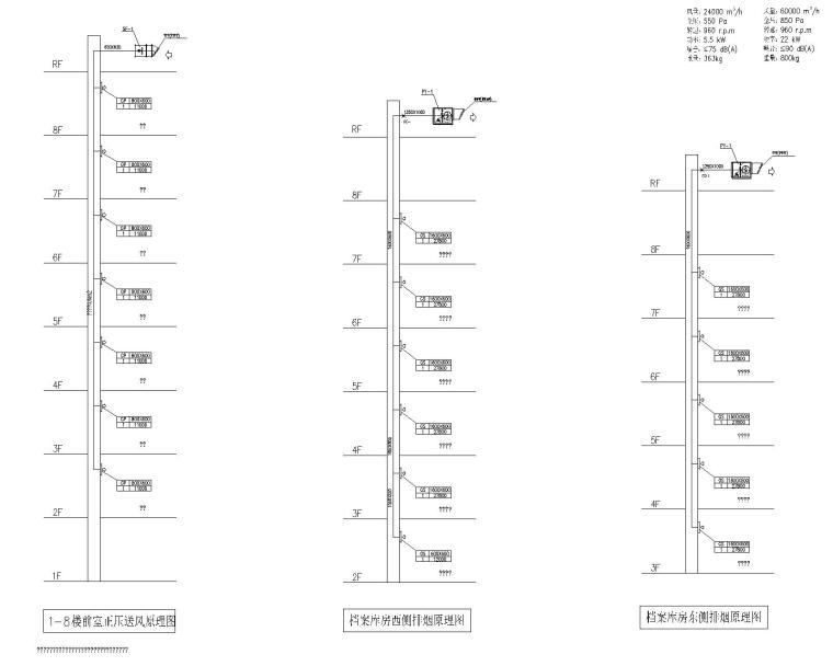 VRV热泵空调资料下载-[江苏]启东市档案馆暖通设计图纸(含VRV空调系统原理图)