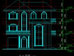 多层别墅建筑图(框剪结构)