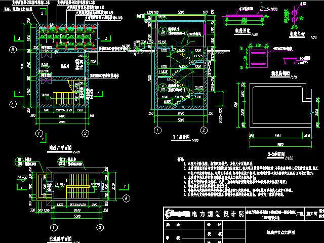 城市道路110kV电力隧道设计图纸69张CAD
