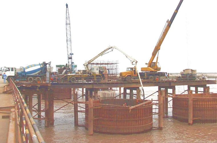 跨海大桥建设项目滩涂区承台施工技术方案
