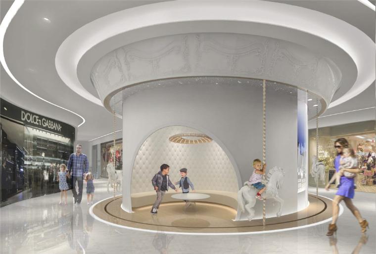 [北京]银泰中心商业公共区域设计施工图(附效果图+物料表+结构图纸+消防图纸)-三层儿童区效果图-3