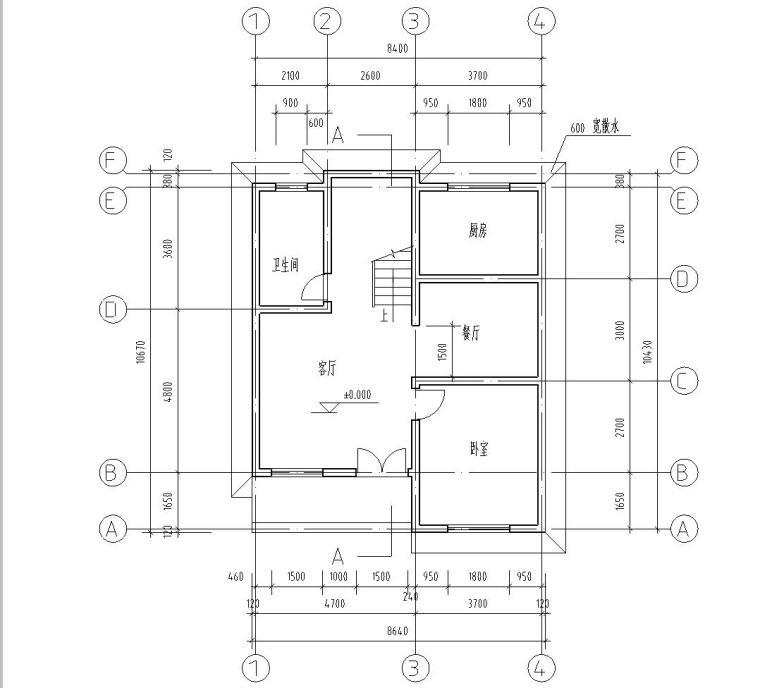 砖混结构独栋别墅建筑施工图设计(CAD+效果图)
