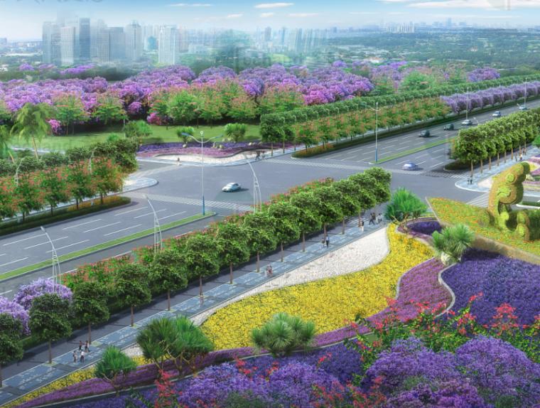 [广东]湛江海东快线概念景观设计(PDF+55页)-鸟瞰