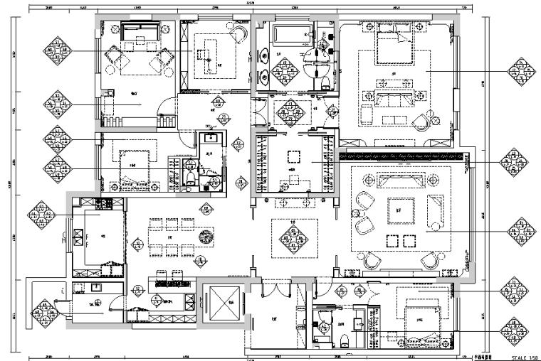 现代简约风格样板房设计施工图(附效果图)