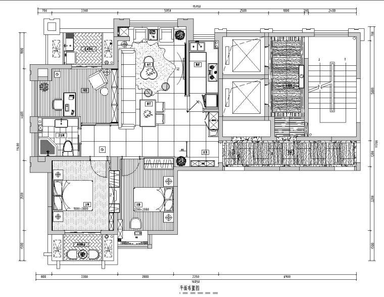 [福建]福州中茵上城国际室内施工图设计(包含CAD+实景图)