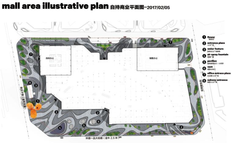 [四川]龙湖紫宸商业项目景观设计方案 B-1 平面图