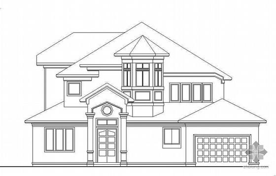 某三层欧式风格独栋小别墅建筑施工图