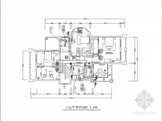 [湖南]别墅住宅空调及地暖系统设计施工图