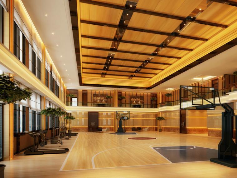 室内健身篮球场3D模型下载