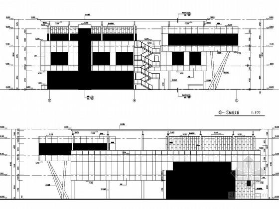 [常州]三层钢框架结构售楼处结构施工图(含建筑图 计算书)