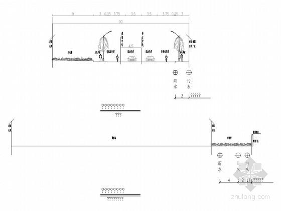 [山东]经济技术开发区二车道道路排水工程图纸22张(雨污水 箱涵)