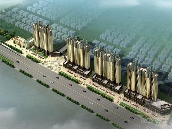 [湖北]简欧风格高层住宅小区规划设计方案文本(含两个地块)