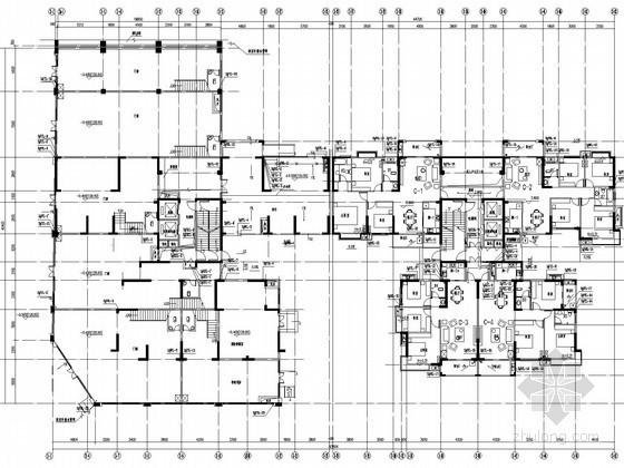 [湖南]住宅小区五栋楼给排水消防施工图(气体灭火 压力排水)