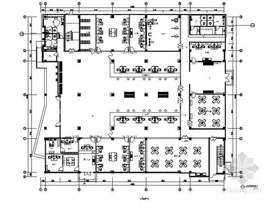 [江苏]环保科技工业园现代风格社区服务中心室内装修施工图