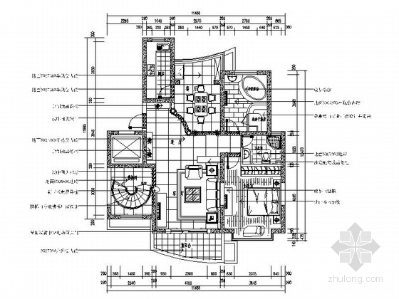 [绍兴]豪华欧式风格三居室复式楼装修图(含效果图)