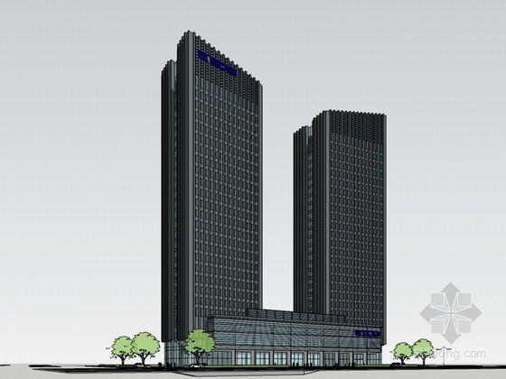 现代高层建筑SketchUp模型下载-现代高层建筑