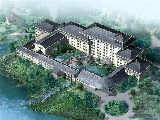 [江西]新中式五星级庭院度假酒店建筑设计扩初文本