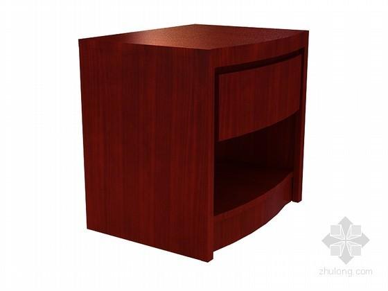 现代中式床头柜3D模型下载