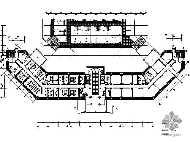 [北京]某中级人民法院部分施工图(含效果)