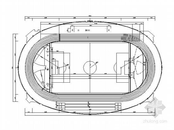 [三明]某体育馆运动场施工图