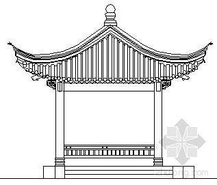 亭廊组合建筑施工图