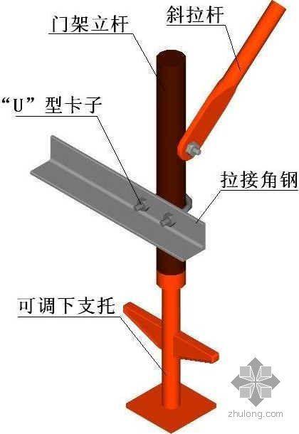 组合飞模施工工法插图之飞模龙骨装配图
