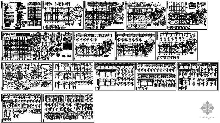 某六层办公楼底框结构设计图