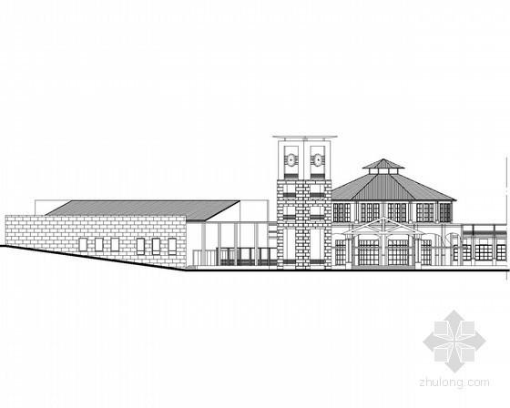 某别墅区二层欧式会所建筑方案图