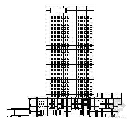 荆州某二十五层酒店建筑结构施工图