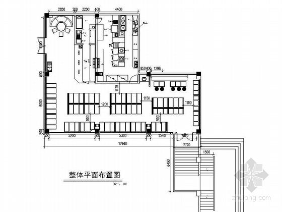 [厦门]某中式风味餐厅室内装修施工图