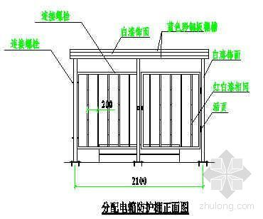 分配电箱防护棚安全示意图