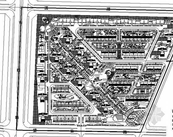 [长沙]某小区景观规划设计总平
