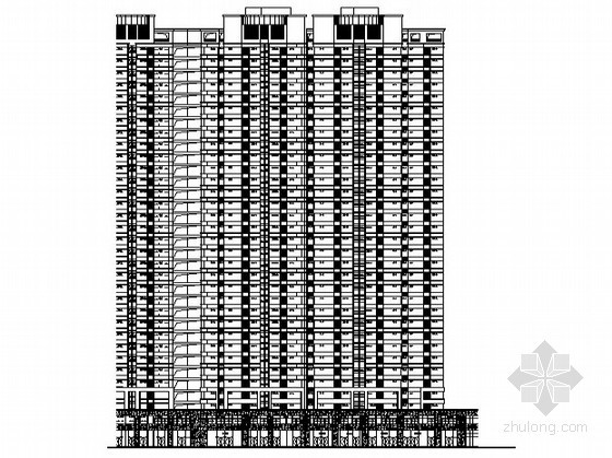 [合肥]某公寓商业工程4号楼裙楼外立面幕墙装饰工程建筑施工图