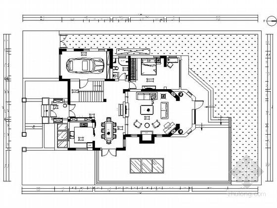 [北京]滨河花园城市欧式两层别墅装修施工图