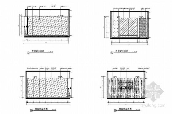 [北京]经济开发区新能源汽车有限公司办公室施工图 贵宾室立面图