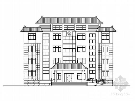 [云南]四层新中式行政办公楼建筑施工图